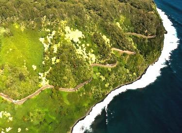 hana highway aerial