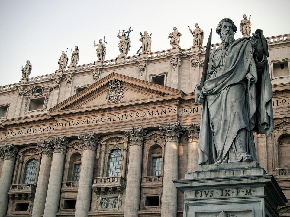 San Pedro Rome Sculpture Art Statue Italy Church